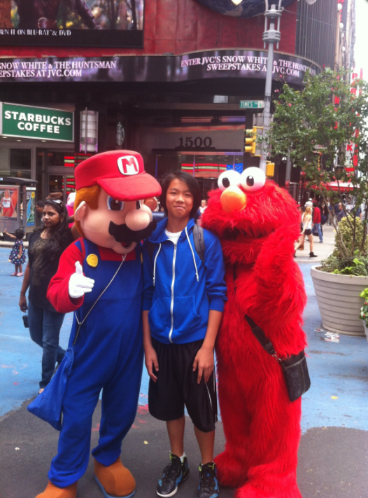 Benny in New York Time Square 2012