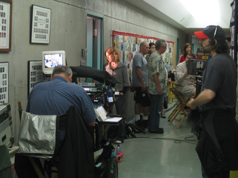 Benny Feng on set for Being Erica