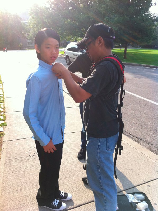 "Benny Feng on set for ""Searching for Wonder"""